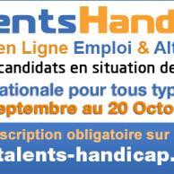 """Visuel pour 11ème édition du forum Emploi Handicap """"Talents Handicap"""""""